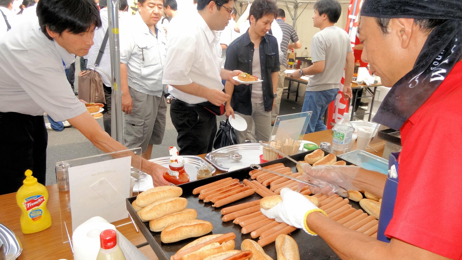出張ケータリング屋台バーベキュー納涼会・暑気払いパーティー鉄板焼き料理プラン #2